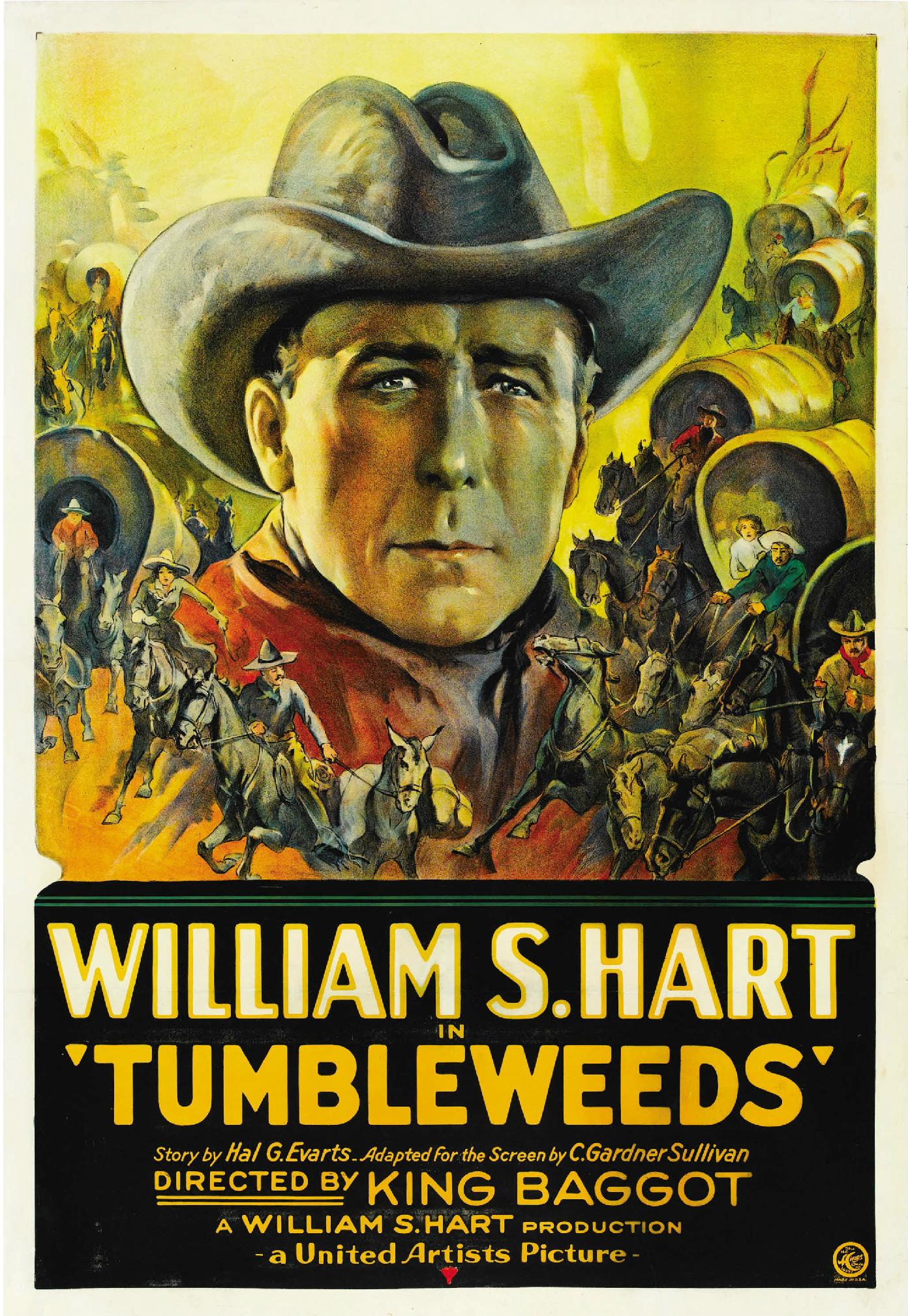 Tumbleweeds, 1925 western starring William S. Hart ...