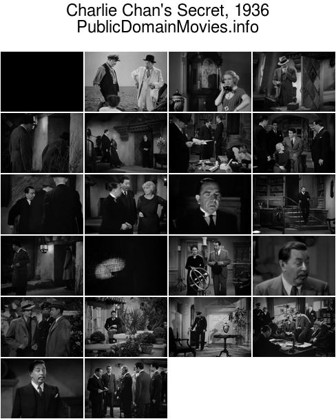 Charlie Chan's Secret, 1936 [Charlie Chan]