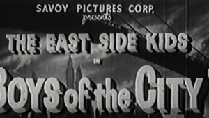 The East Side Kids in Boys of the City, 1940